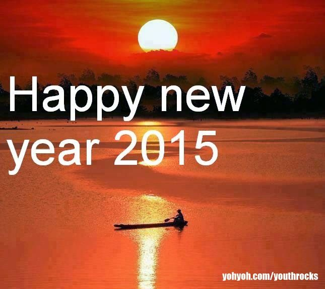 A beautiful Sun rise at Godavari river saying happy new year 2015