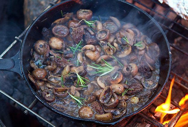 Campfire Mushrooms | 29 Camping Recipes That'll Make You Look Like A Genius