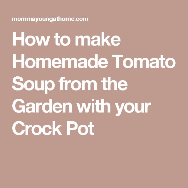How to make Homemade Tomato Soup from the Garden with your Crock Pot