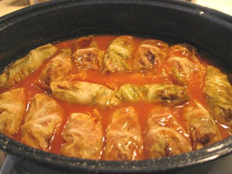 Yummy stuffed cabbage rolls!  This recipe was given to me by my Polish/Slovak mother-in-law.