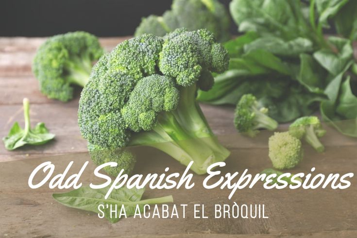 Odd Catalan Expressions: S'ha Acabat el Bròquil! - https://bcn4u.com/odd-catalan-expressions-sha-acabat-el-broquil/