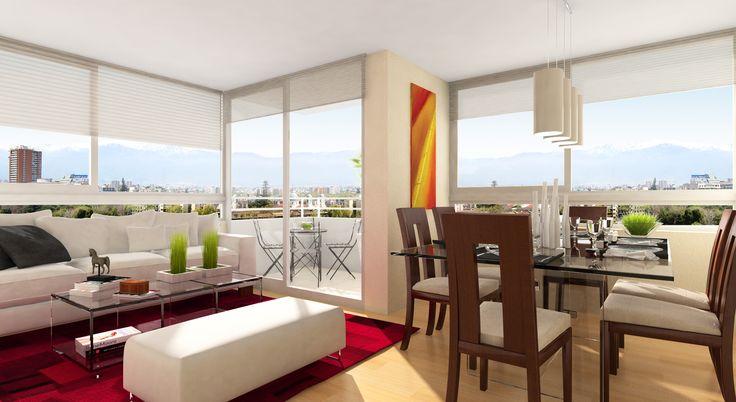 Living - comedor Dpto. 3 dormitorios.