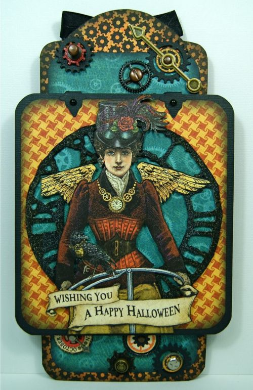 Brilliant Steampunk Spells altered tag by Andrew Roberts using our Large Tag Album Staples #graphic45 #tags