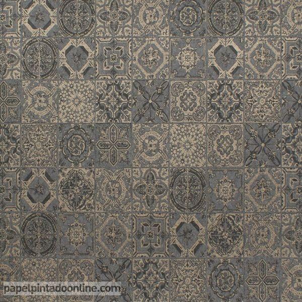 Papel pintado smart sma 2611 92 26 papel de imitaci n a peque os azulejos con distintos dise os - Papel pintado negro ...