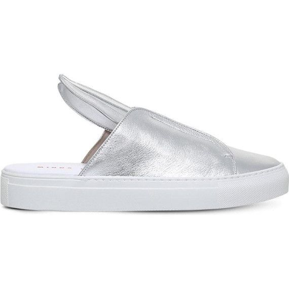 Bunny Slip leather trainers