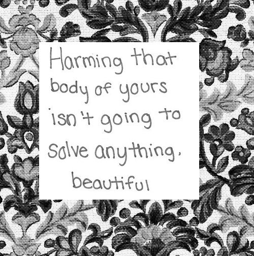 self harm... does not solve anything but sometimes you run totally out of coping mechanisms :-(