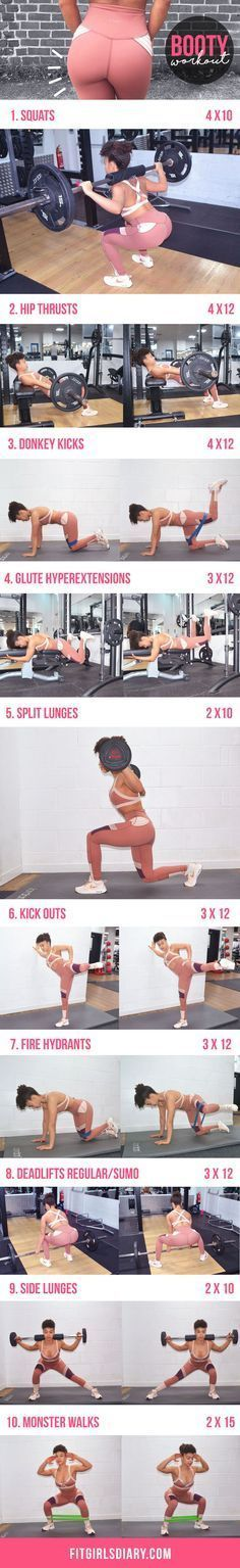 10 Best Glutes Exercises To Build Stronger & Bigger Booty – Get The Booty Of You…
