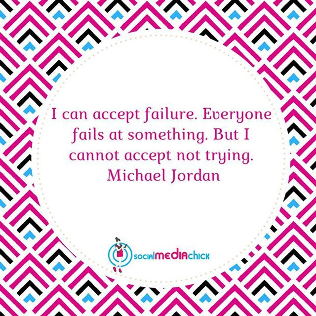 """""""I can accept failure, everyone fails at something but I cannot accept not trying"""" Do yourself a favor and at least try. What do you have to loose??? by socialmediachick. influencer #travel #bossbabe #branding #goaldigger #liveyourdreams #partyplanner #womensupportingwomen #lifeofanentrepreneur #socialmedia #eventplanner #networkmarketers #goals #makemoremoney #blogger #beyourownboss #businesswomen #womeninbusiness #instadaily #authors #travelpreneur #buildyourbrand #winning #celebritynews…"""