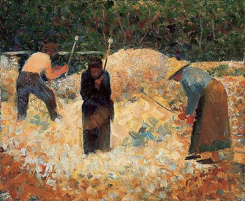 Georges Seurat - The Stone Breakers, le Raincy, 1882