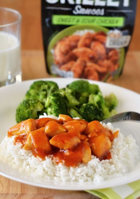 Easy Sweet and Sour Chicken – Just cook the chicken and add the Campbell's Skillet Sauce. It's that simple! Bring a delicious Asian-inspired classic to your dinner table tonight. Recipe and photo by blogger, Holly Lofthouse, of Life-in-the-Lofthouse.com