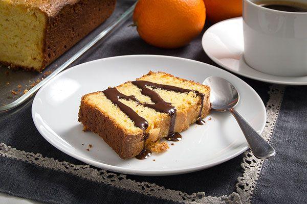 #Bizcocho de naranja con #queso mascarpone y #chocolate caliente.