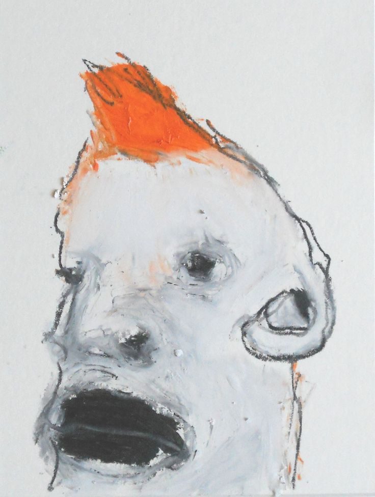https://flic.kr/p/a21CUw | orange hair | 15x19 cm pastelli a olio su cartoncino. 9 lug 2011