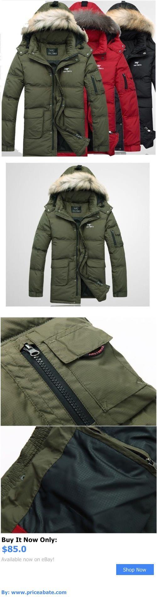 Men Coats And Jackets: Mens Duck Down Hooded Warm Jacket Winter Long Parka Coat Overcoat New BUY IT NOW ONLY: $85.0 #priceabateMenCoatsAndJackets OR #priceabate