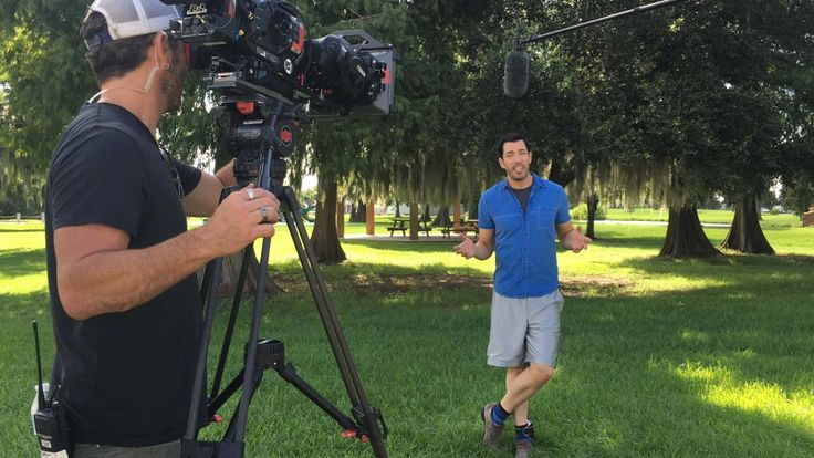 Drew often had to film outside, where temperatures were well into the 90s with nearly 100% humidity. | Brothers Take New Orleans | HGTV