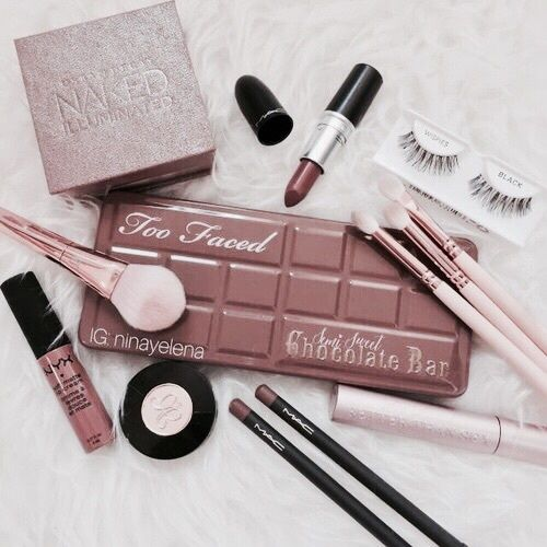 make up and cosmetics image on We Heart It