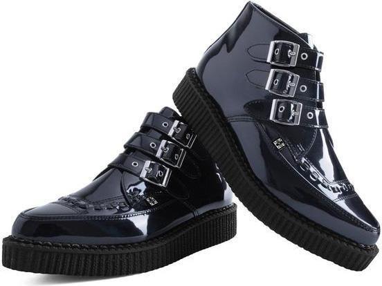 T.U.K. Shoes - Vegan 3 Buckle Creeper Boot