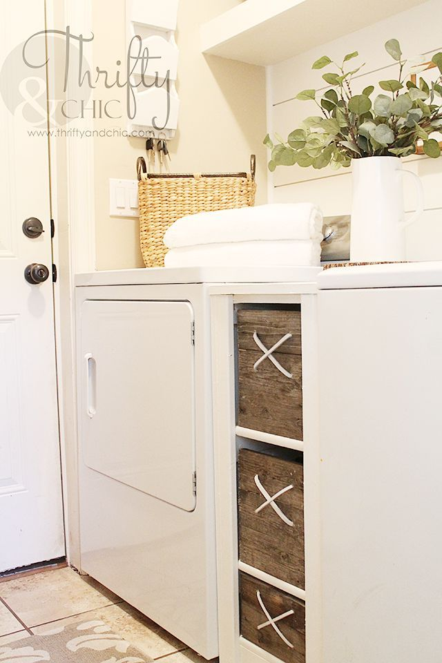Diy In Between Washer And Dryer Storage Cabinet For The Laundry Room Small Organization Ideas