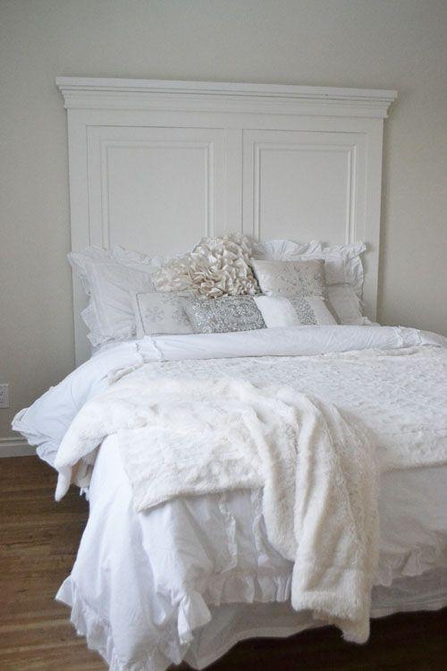 Beautiful Diy Headboard Tall White Moulding Fancy Ana