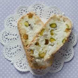 lemon and pistachio gluten free biscotti