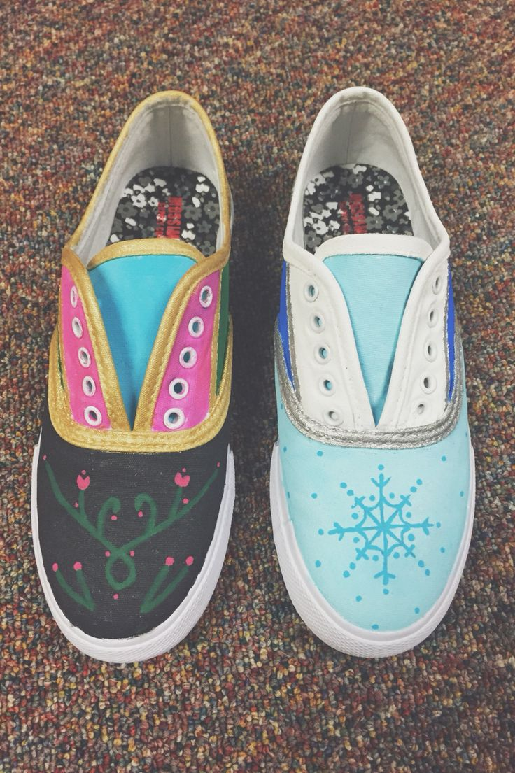 1000 ideas about frozen shoes on painted