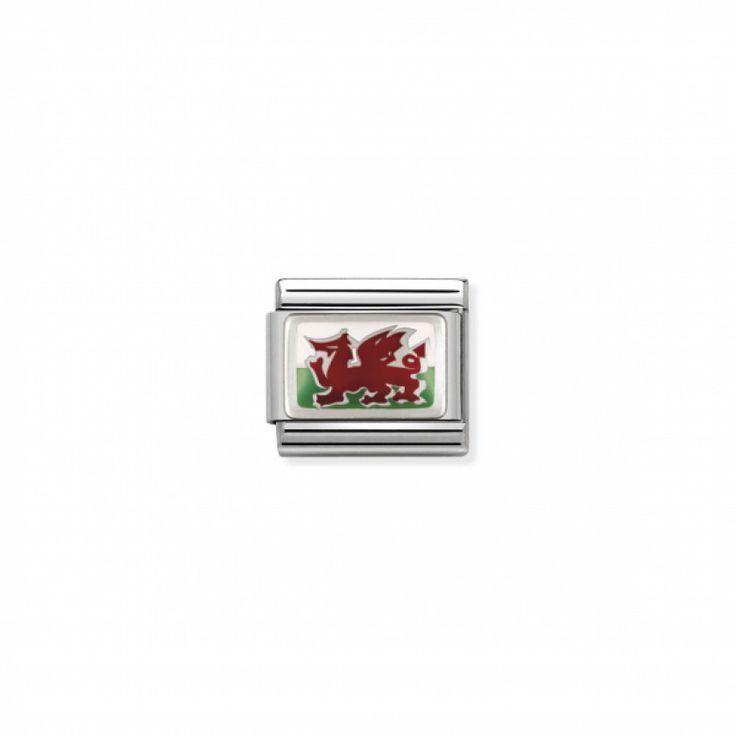Link en Argent et Email Drapeau Pays de Galles - Nomination
