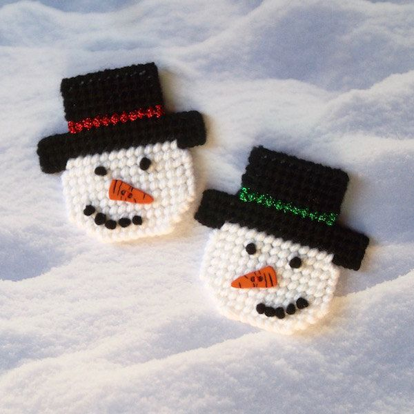 97 best plastic canvas snowmen images on pinterest for Plastic snowman