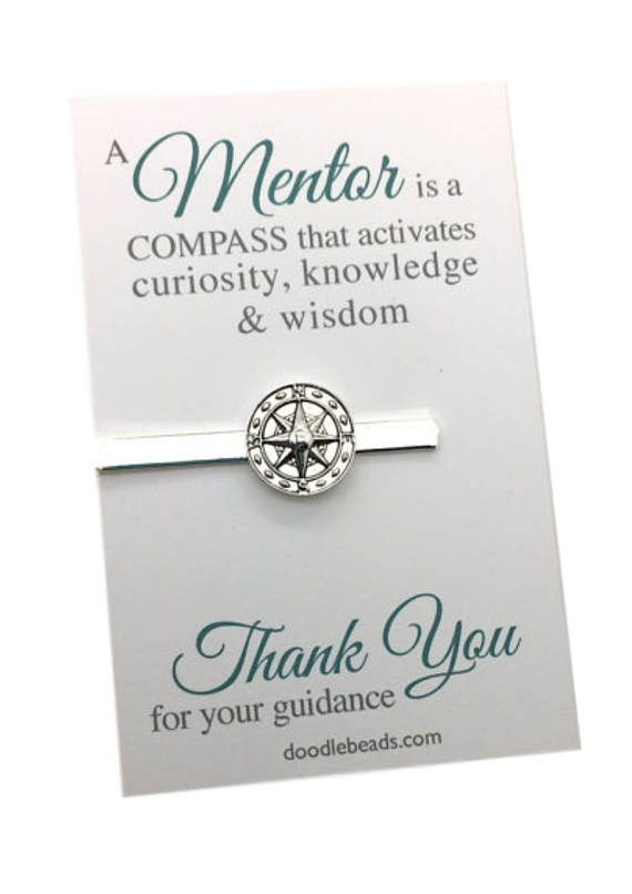 Mentor gifts Gift for Tutor Male teacher gift Compass Tie