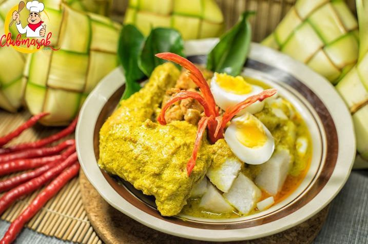 Resep Lebaran Menu Lebaran Yang Praktis Ketupat Sayur Clubmasak Com Masakan Masakan Indonesia Makanan Sehat