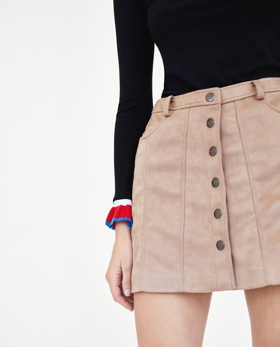 Image 3 of FAUX SUEDE MINI SKIRT from Zara