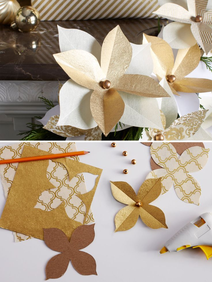 DIY Paper Poinsettia (the Perfect Gift Embellishment)