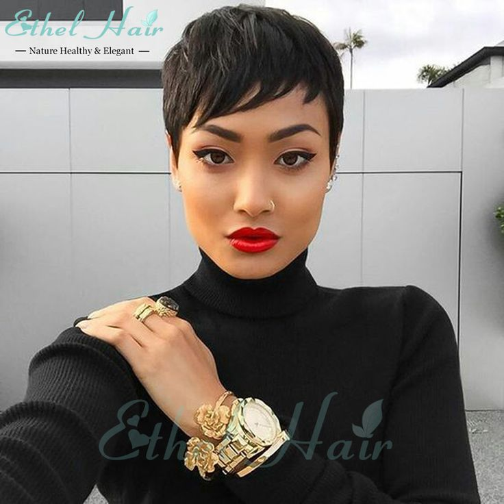 Find More Human Wigs Information about Celebrity Cheap Pixie Cut Human Brazilian…