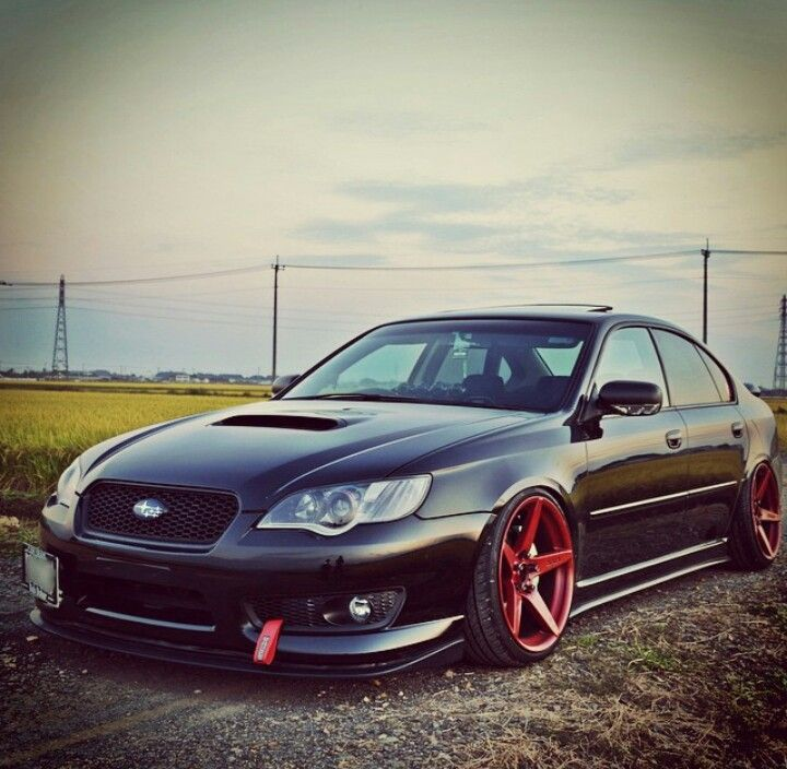 Subaru Legacy GT! I love the red accent so much!