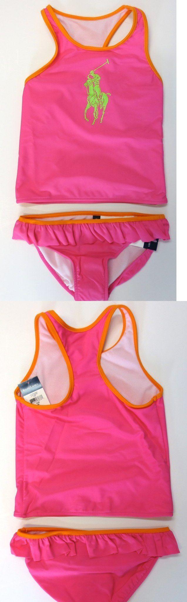 Swimwear 152398: Ralph Lauren Polo Girls Swimsuit Sz 3 3T Tankini Kids Toddler Pink Two Piece -> BUY IT NOW ONLY: $35 on eBay!