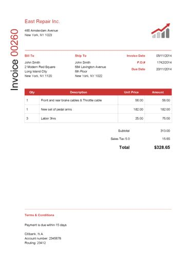 9 best Invoice templates images on Pinterest Invoice template - create a receipt template