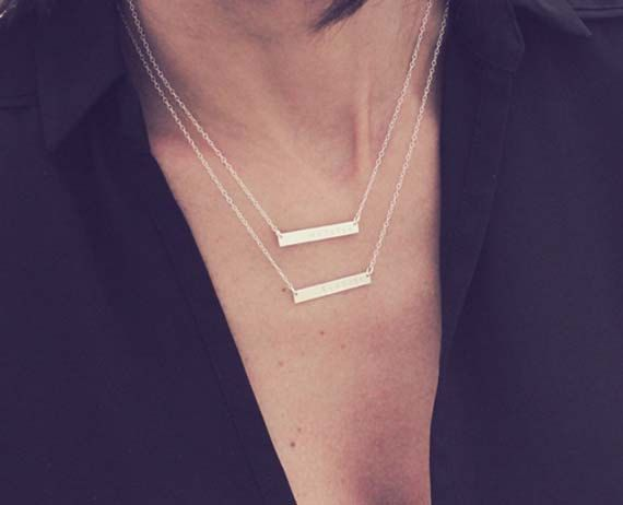 """16"""" and 18""""    Top necklace: Crazy    Bottom necklace: Beautiful     Sterling silver"""