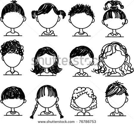 Set Cartoon Doodle People Stock Photos, Images, & …