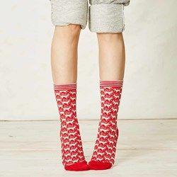 Ladies Reindeer Bamboo Socks | Planet Friendly Fabric | The Present Finder