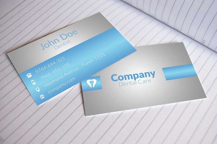 Dental Business Cards Design Free Business Card Templates Dental Business Cards Business Card Psd