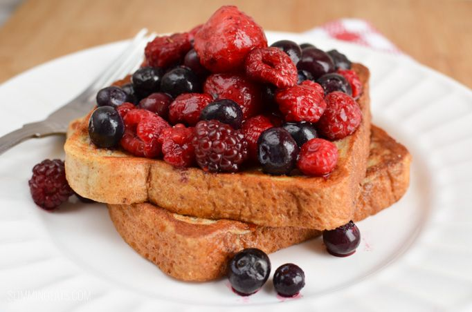 Slimming Eats French Toast - dairy free, vegetarian, Slimming World and Weight Watchers friendly
