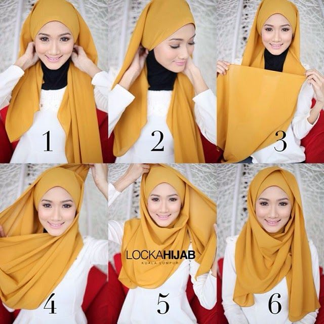HIJAB FASHION INSPIRATION : Gorgeous Wrapped Hijab Tutorial