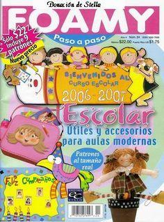 Revista foamy escolar - Revistas de manualidades Gratis