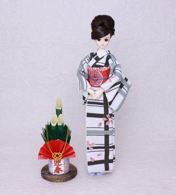 Kimono doll.Japanese kimono. ジェニーのモダン着物