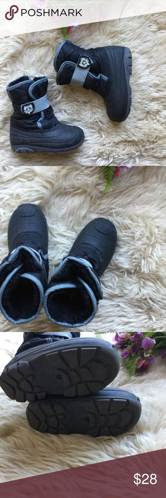 Kamik Winter Boots Kamik Winter Boots, size 9. Velcro closure, pre-owned in great condition! Bundle 3 or more items and save 15%! Kamik Shoes Rain & Snow Boots