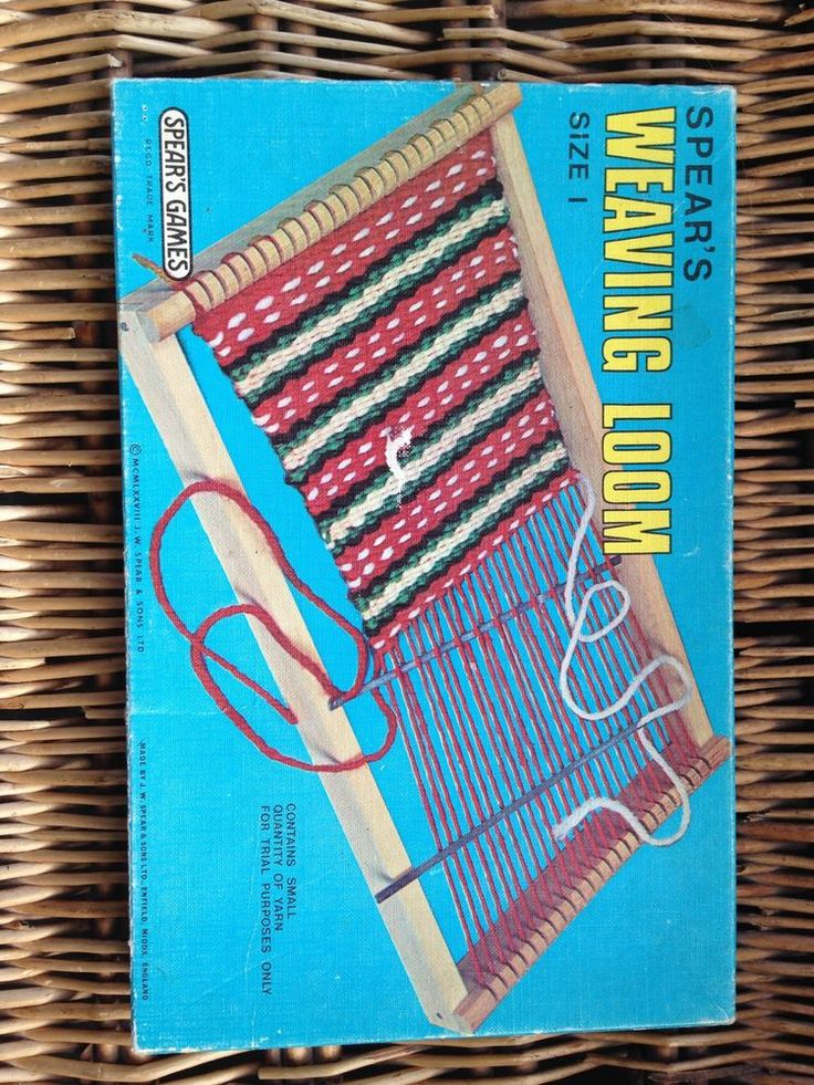 SPEAR'S GAMES Size 1 Weaving loom Vintage Toy