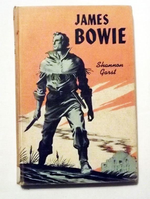 Vintage Book  JAMES BOWIE  Shannon Garst  by NightOwlConsignments, $5.00