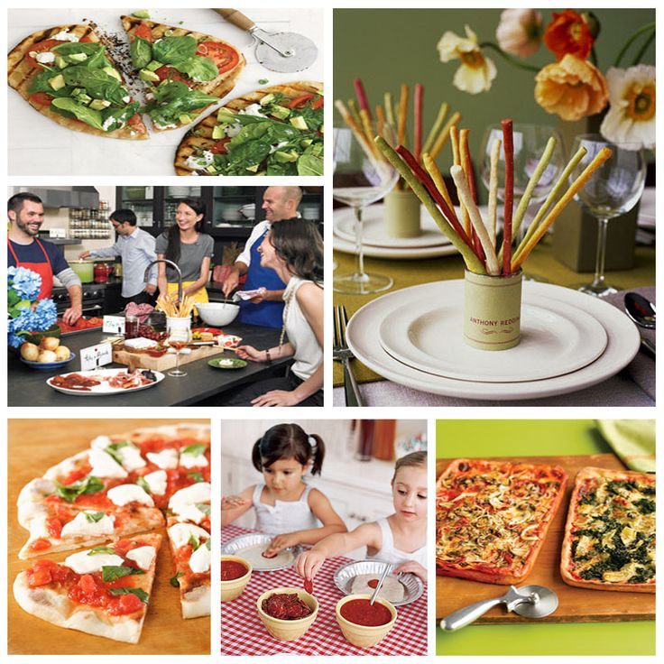 Kids Dinner Party Ideas Part - 30: Pizza Party. Love The Idea Of Using Pie Tins So The Kids Can Make Their