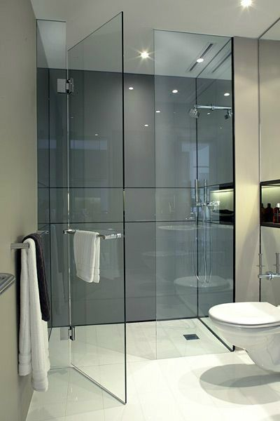Love the all glass door and walk in shower with no curb.