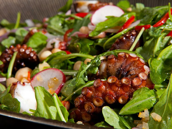 Charred Octopus and White Bean Salad Recipe : Guy Fieri : Food Network ...