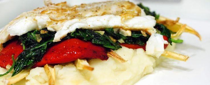 Gewoon wat een studentje 's avonds eet: Dinner: Gebakken kabeljauwfilet met aardappelpuree...