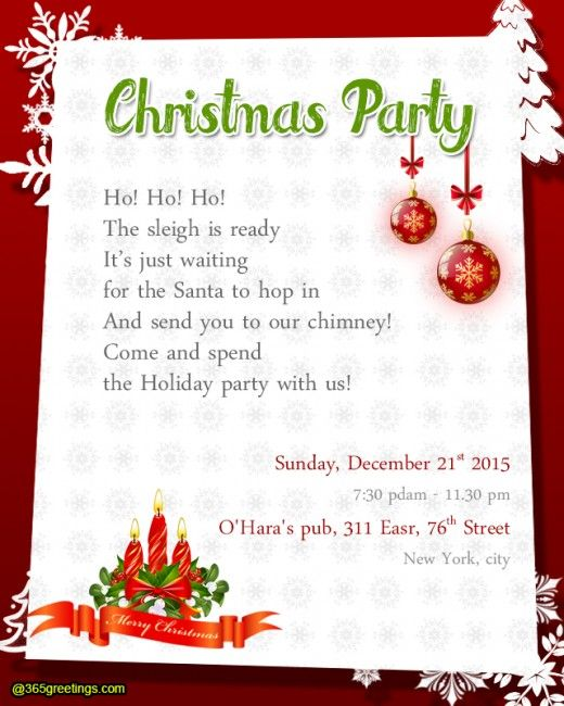 nice christmas party invitation ideas best christmas party